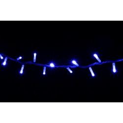 Уличная гирлянда DELUX STRING (нить) 200LED 10m синий/белый IP44 EN