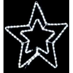 Уличная гирлянда DELUX MOTIF STAR (звезда) 0,54m белая IP44 EN