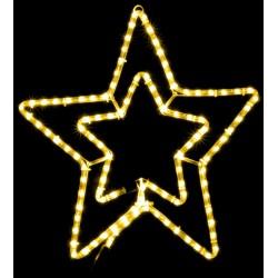 Уличная гирлянда DELUX MOTIF STAR (звезда) 0,54m желтая IP44 EN