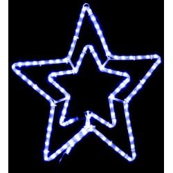 Уличная гирлянда DELUX MOTIF STAR (звезда) 0,54m синяя IP44 EN