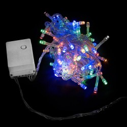 Елочная гирлянда DELUX STRING С (нить) 100LED 5m мульти/прозрачный IP20 EN