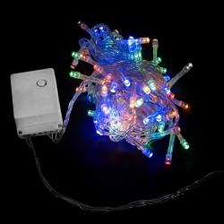 Елочная гирлянда DELUX STRING С (нить) 200LED 10m мульти/прозрачный IP20 EN