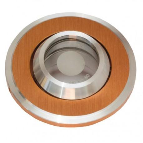 Точечный светильник неповоротный Delux HDL16143R 50Вт G5.3 серебро/золото