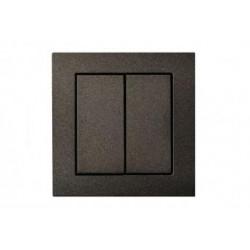 Пульт PG412 черный (4 канала, стеклянная рамка)
