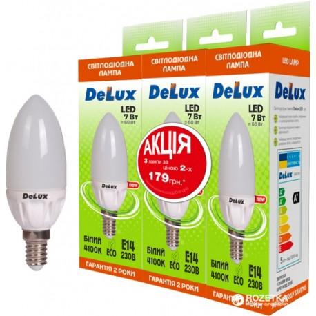 Набор светодиодных ламп Delux BL37B 7 Вт 4100K 220В E14 (1+1+1)