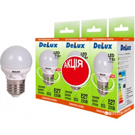 Набор светодиодных ламп Delux BL50P 7 Вт 2700K 220В E27 (1+1+1)