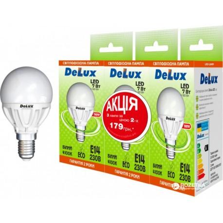 Набор светодиодных ламп Delux BL50P 7 Вт 4100K 220В E14 (1+1+1)