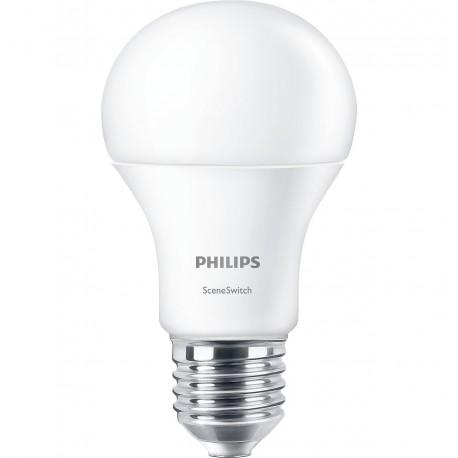 Светодиодная лампа Philips Scene Switch A60 3S 9-70W E27 3000K