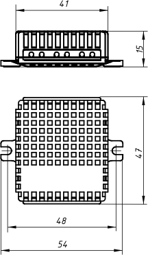 Габариты блока защиты ламп ГРАНИТ БЗ-500