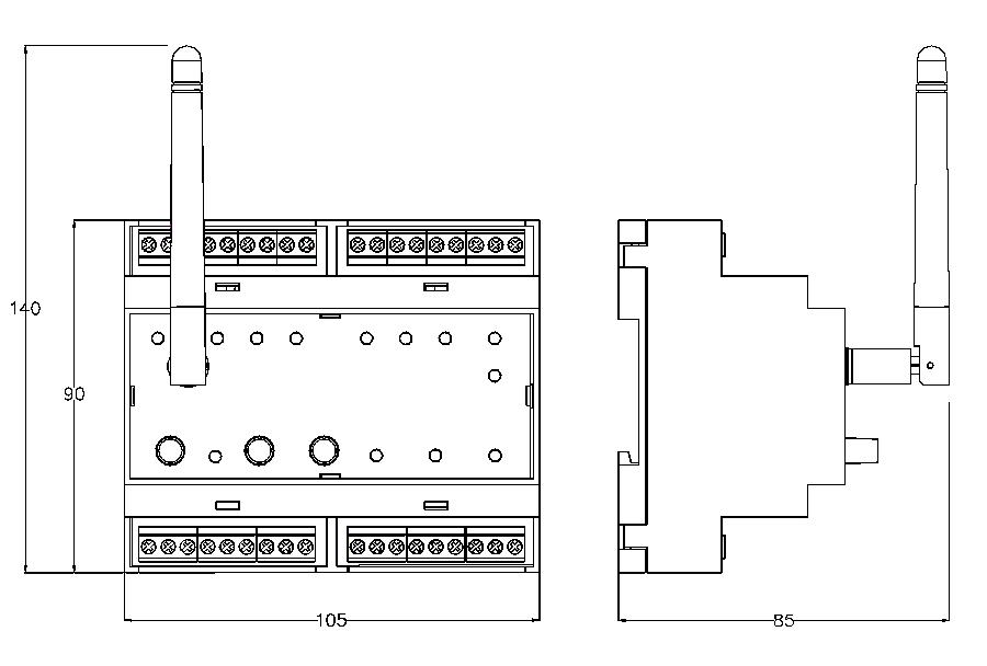 Габариты SRF-10-1000