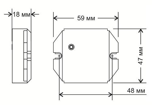Габариты силового блока SU-1-500