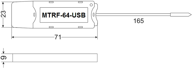 Габариты MTRF-64-USB