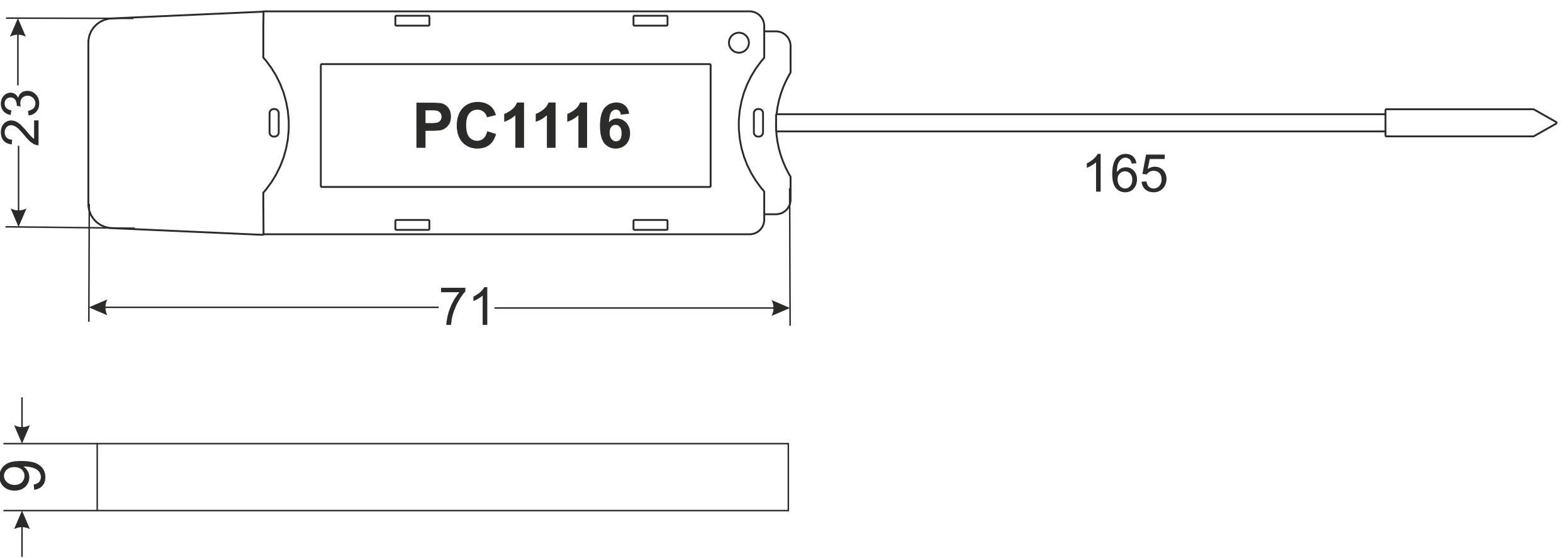 Габариты PC1116