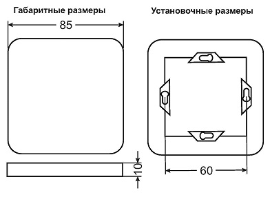 Габариты пульта PU212-1