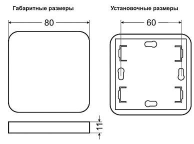 Габариты пульта PU312-2