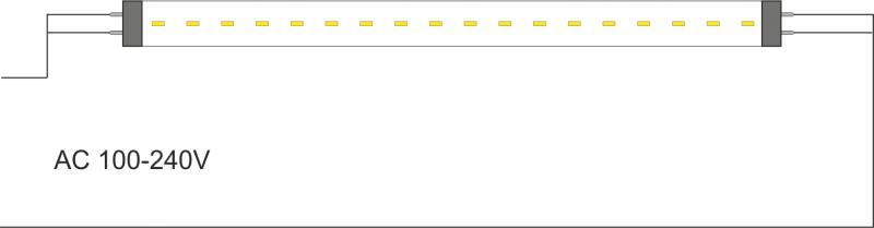 Verso LED'S10-T8 схема подключения