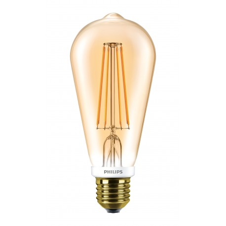 Светодиодная лампа Philips LEDClassic 7-60W ST64 E27 2000K GOLD APR